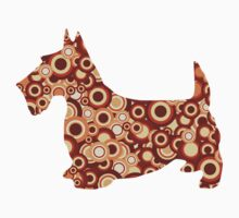 Scottish Terrier - Animal Art Kids Tee