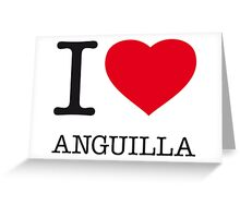 I ♥ ANGUILLA Greeting Card