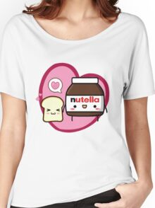 Kawaii Nutella and sandwich bread Women's Relaxed Fit T-Shirt