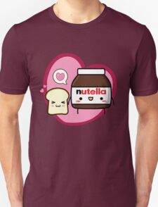 Kawaii Nutella and sandwich bread Unisex T-Shirt