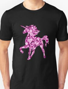 Pink Unicorn - Animal Art Unisex T-Shirt