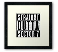 Sector 7 Represent! Framed Print