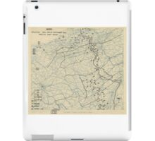 World War II Twelfth Army Group Situation Map September 25 1944 iPad Case/Skin