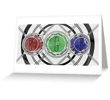 Obvious RGB - Abstract CG Greeting Card