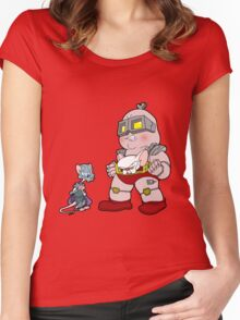 Gee Kraang what are gonna do tonight? Women's Fitted Scoop T-Shirt