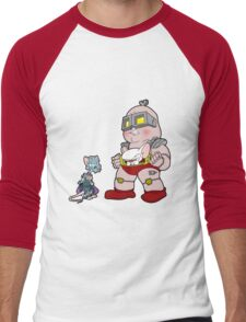 Gee Kraang what are gonna do tonight? Men's Baseball ¾ T-Shirt