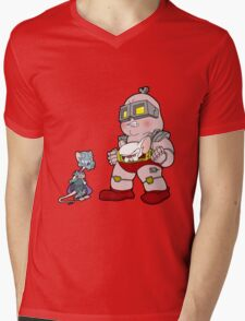 Gee Kraang what are gonna do tonight? Mens V-Neck T-Shirt