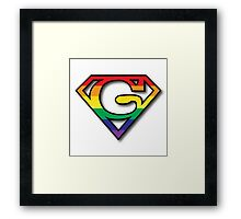 Super Gay Framed Print
