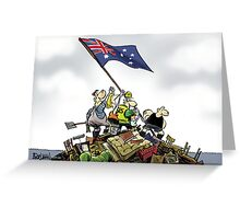 Aussies triumph over floods Greeting Card