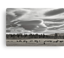 Cloud formations near Sisters Oregon Canvas Print
