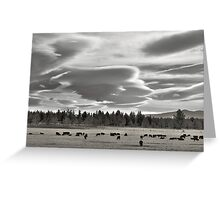Cloud formations near Sisters Oregon Greeting Card
