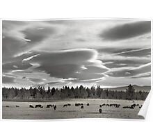 Cloud formations near Sisters Oregon Poster