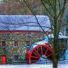 Wayside Inn Grist Mill in Winter by Monica M. Scanlan