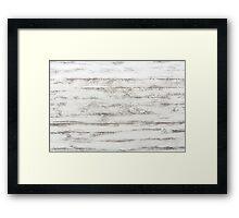 White Wooden Planks Framed Print