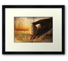 "ab ovo.... [a hand study for series ""creations and destructions] Framed Print"