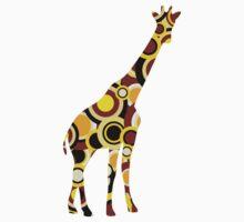 Giraffe - Animal Art Kids Tee