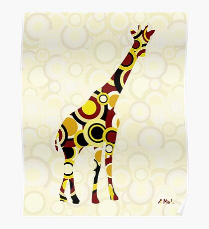 Giraffe - Animal Art Poster