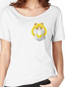 Sailor Moon pocket Women's Relaxed Fit T-Shirt