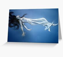 """Close-up of """"Weightless"""" Greeting Card"""