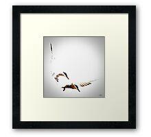 Diving Turn Framed Print