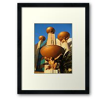 ☝The big muscled Atlasw , downcast and bearing a burden for your pleasure, as part of MGM Grand  Framed Print