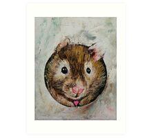 Hamster Love Art Print