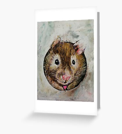 Hamster Love Greeting Card