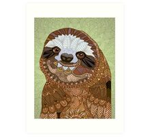 Smiling Sloth Art Print