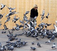Pigeon Man by JacquiK