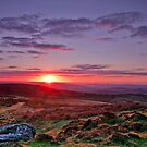 """Sunrise over Teignmouth""   Dartmoor by James  Key"