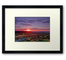 """Sunrise over Teignmouth""   Dartmoor Framed Print"