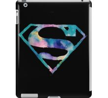 Watercolor Superman (black) iPad Case/Skin