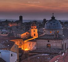 an italian cityscape by Olivier  Jules