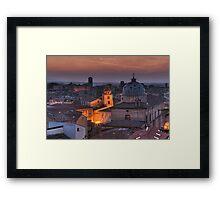 an italian cityscape Framed Print