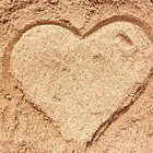 Heart in the sand by Nina M