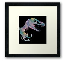Watercolor Jurassic (black) Framed Print