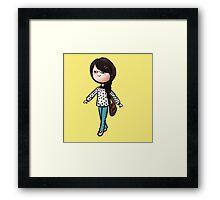 Geeky Girl Framed Print