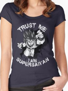 Trust Me I am Supersaiyan Women's Fitted Scoop T-Shirt