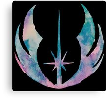 Watercolor Jedi Order (black) Canvas Print