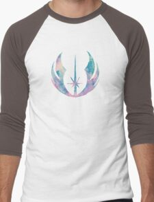 Watercolor Jedi Order (black) Men's Baseball ¾ T-Shirt