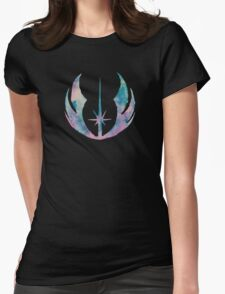 Watercolor Jedi Order (black) Womens Fitted T-Shirt