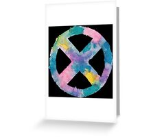 Watercolor X-Men (black) Greeting Card