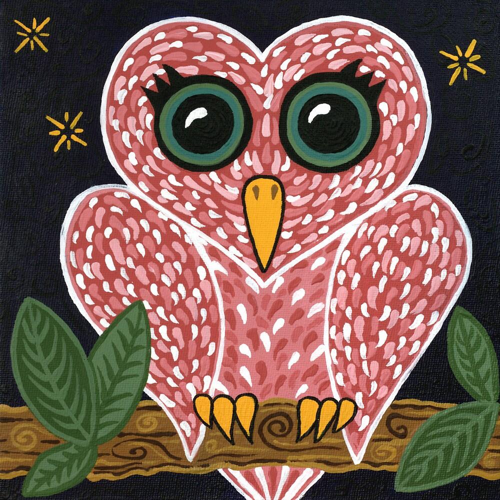 'Owl Heart'  by Lisa Frances Judd~QuirkyHappyArt