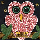 &#x27;Owl Heart&#x27;  by Lisa Frances Judd ~ Original Australian Art