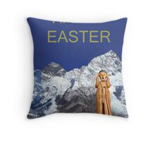 Everest The Scream World Tour Happy Easter Throw Pillow