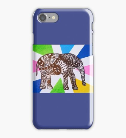 Aztec Elephant iPhone Case/Skin