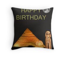 The Scream World Tour Egypt Happy Birthday Throw Pillow