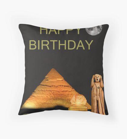The Scream World Tour Egypt Happy Birthday Throw Pillow