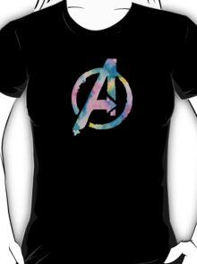 Watercolor Avengers (black) T-Shirt