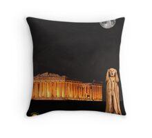 The Scream World Tour Athens Throw Pillow